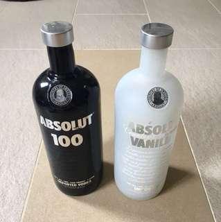 Absolut Vodka 1L Empty Bottles