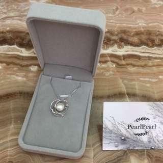 [天然珍珠]Pearl Pearl天然珍珠吊墜連純銀頸鏈 優惠價$188 每條