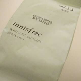Innisfree Water fit cushion refill W33 (Chestnut) SPF34 PA++