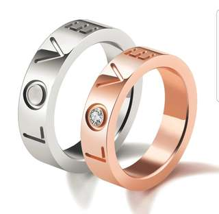 Stainless steel couple Rings (Sold pair or separately)