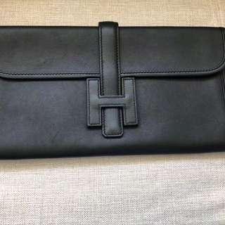 100% authentic Hermes Jige clutch case