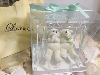 Love & Co Wedding bear on swing