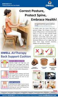 OWELL AIR THERAPY BACK CUSHION SUPPORT