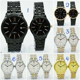 Jam Tangan Couple Lorenzo Original