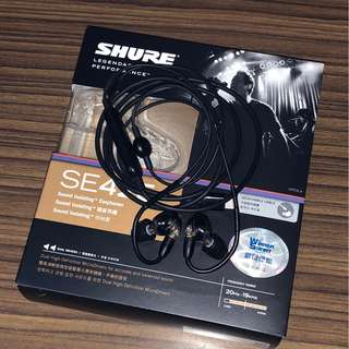 Shure SE425 黑 Sound Isolating Earphones 99%新 一年保養(可附加iPhone Lightning)