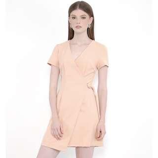 HVV Her Velvet Vase Saints Wrap Dress (Sunset Peach)