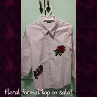 Formal top with flower design on sale 🔥🔥🌼🌼