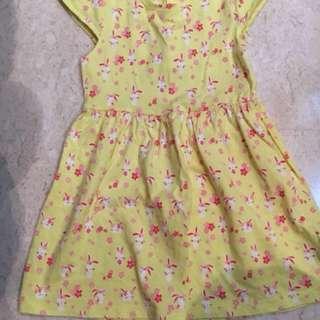 Mothercare Yellow Dress 12-18m