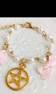 粉紅蝴蝶手鍊
