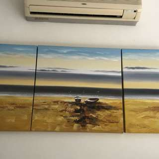 3 piece oil painting