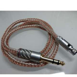 德國進口線材 耳機升級線 純人手編製 訂做 16絞 [7N單晶銅|單晶銅鍍銀混單晶銅] (大耳牛升級線)