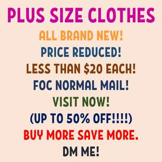PLUS SIZE CLOTHES HERE