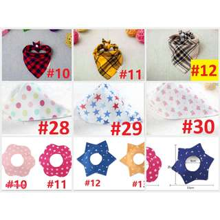 clearance!**$1** Baby bibs babies bib bandana scarf caps bid bids Drool feeding teething