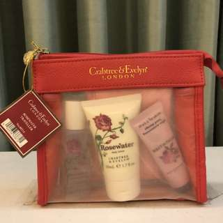 Crabtree & Evelyn Rosewater Traveller Set