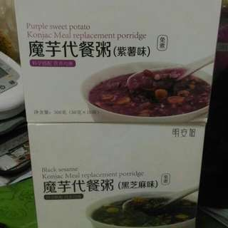 魔芋代餐粥 代餐粉 減肥 瘦身 Keep Fit 五谷雜糧紅豆薏米低卡紫薯食品營養飽腹早晚餐粉 蒟蒻