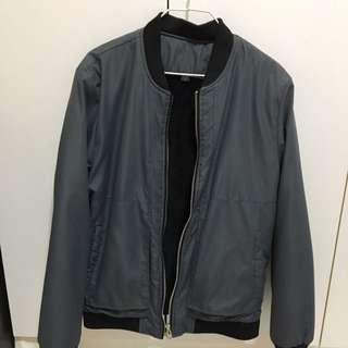 Grey Black Bomber Jacket