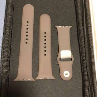 Brand new apple watch sports strap 42mm brown/yellow gold
