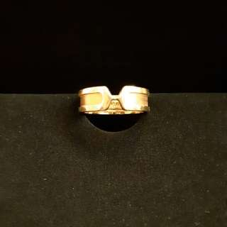 Cartier 18k Double C ring #55