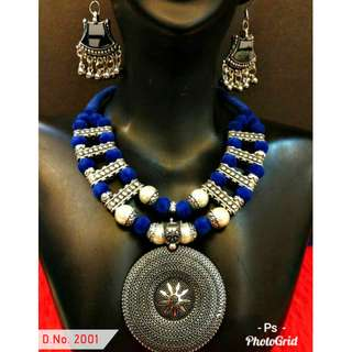 VINTAGE INSPIRED FASHION NECKLACE WITH DROP EARRINGS