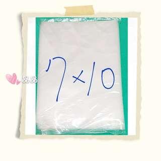 ☆晶晶☆【滿900元免運】450g台製LDPE7×10厚透明袋21x30cm(厚0.1mm)冷凍袋/平口袋/高壓袋