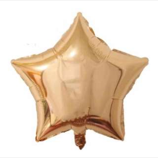 "18"" Rose Gold Star Foil Balloons"