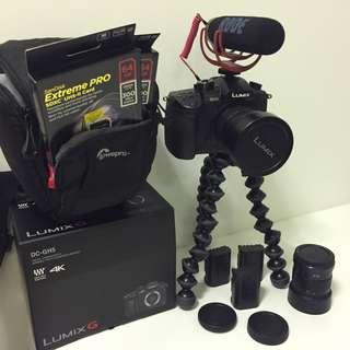 Panasonic GH5 combo + Röde mic + 42.5mm 1.7 lens + 7-24 lens