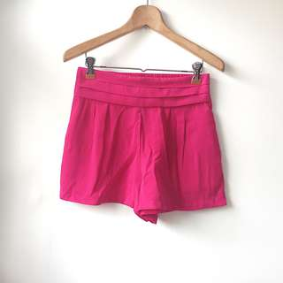 Forever 21 hot pink fuschia high waisted shorts