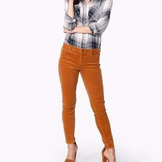 Forever 21 corduroy rust pants jeans