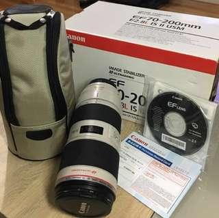Canon EF 70-200mm 長鏡頭 (小白)& B+W filter