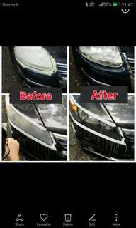 Restore yellowish Headlight