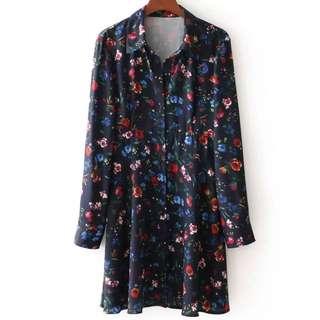 🔥2018 loose long sleeve european dress