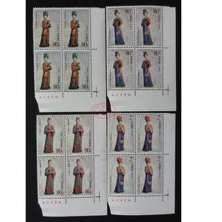 2003-15 晋祠彩塑 4方联连