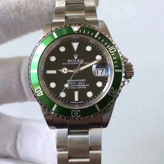 Rolex Submariner 16610LV 勞力士 Oyster Perpetual Date With Paper 綠水鬼