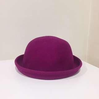 Magenta pink bowler hat