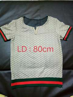 Blouse gucci back berenda