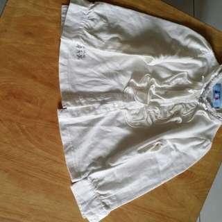 全新 童裝 精品 專櫃 長袖 荷葉 襯衫