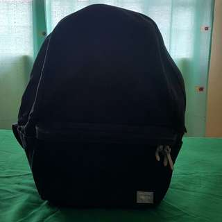 Porter 24L Beat Cotton-Canvas Black Backpack