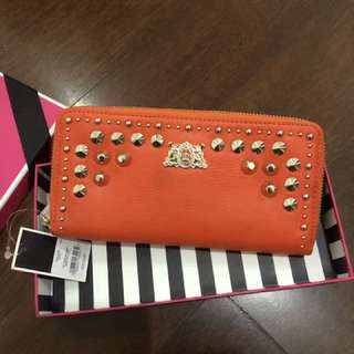 JUICY COUTURE Studded Zipper Wallet 100% Authentic