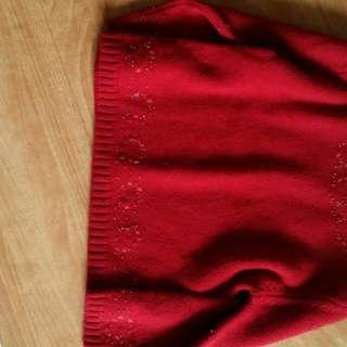 二手 童裝 精品 專櫃 混羊毛 針織 長袖毛衣 尺碼4A