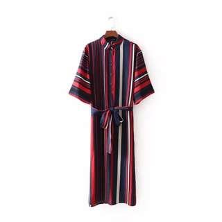 🔥Inspired Zara European Stripe Dress