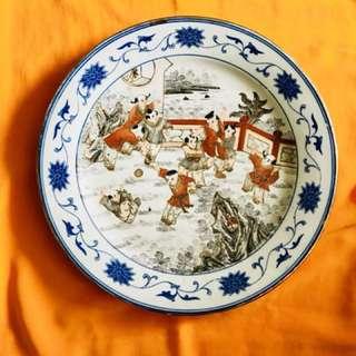 Large porcelain Plate - Old & Unique - 14 inches diameter