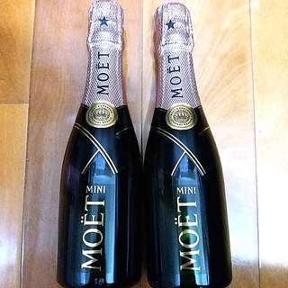 (共2枝) Mini Moët & Chandon Rose Moet & Chandon Rose Imperial Champagne 迷你粉紅香檳