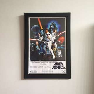 Star Wars Poster With Glasses Frame