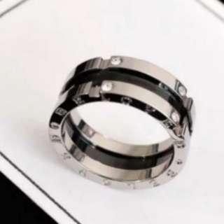 Bv diamond ring sliver couple ring