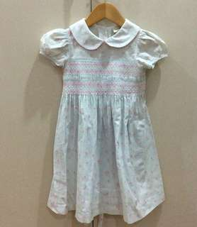 Laura Ashley light blue with floral print toddler dress (2T)