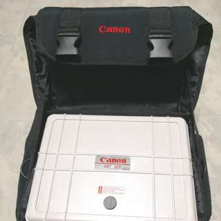 Canon Camera Dry Box and bag