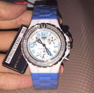 Swiss Made 🈹原價$23500 全新 Technomarine Diamond Watch 陶瓷 真鑽石 女裝 手錶 瑞士 1卡鑽石 情人節 情人節禮物 生日禮物