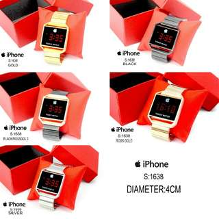 New...!!! 👏👏👏 #1638 #Iphone Watch Layar Sentuh Kualitas Semi Premium  Diameter:4cm  Warna: ~Gold ~Black ~Silver ~RossGold ~Black Rossgold.