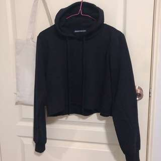 Brandy Melville Black Hoodie Cropped