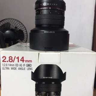 Samyang 14mm canon mount